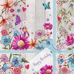 Verjaardagskaart Bloemen (Cartita Design)