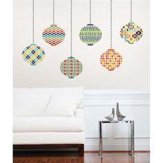 Jonathan Adler for WallPops. Lanterns Kit. #walldecals  #wallart  #peelandstick  #WallPops  #wallstickers  #decor  #DIY  #decorating