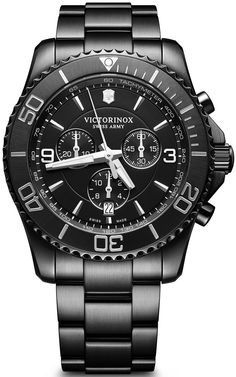 Victorinox Swiss Army Maverick Chrono Black Edition #add-content #basel-18 #bezel-unidirectional #bracelet-strap-black-pvd #brand-victorinox-swiss-army #case-material-black-pvd #case-width-43mm #chronograph-yes #classic #cws-upload #date-yes #delivery-timescale-call-us #dial-colour-black #discount-code-allow #gender-mens #movement-quartz-battery #new-product-yes #official-stockist-for-victorinox-swiss-army-watches #packaging-victorinox-swiss-army-watch-packaging #style-dress #subcat-maverick