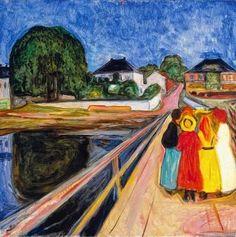 Edvard Munch 1902 Mädchen auf der Brücke. #actionmaler #kunst https://www.youtube.com/watch?v=z7zXniSQTN4