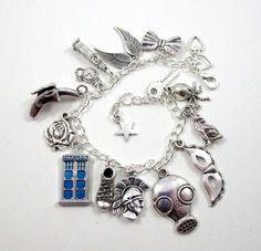 Doctor Who charm bracelet Tibetan silver #DoctorWho #charmbracelet http://raggedyfan.com/tibetan-silver-charm-bracelet/