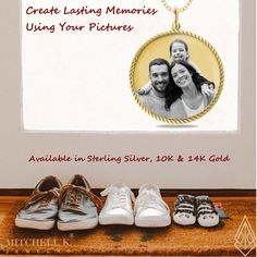 Create Lasting Memories Using Your Picture. A gift she will treasure forever!   Your favorite picture, photo engraved on a pendant.  How sentimental.  Choose from Sterling Silver, 10K Gold or 14K Gold.