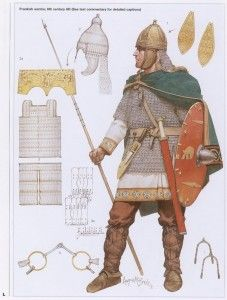 MA - 6th Century Franks http://www.infohow.org/war-weapons-military/armor-uniform-insignia/ma-6th-century-franks/ #militarydesign #militaryuniforms #military