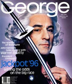 Robert De Niro shot by Nick Knight for George magazine December 1995 |  Laura Forde Art Director + Graphic Designer | website lauraforde.com.