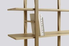 The Wooden Shelf 2 Columns Bookcase WS35, Tall by Wrong for HAY