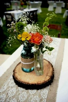 Gorgeous woodland themed centrepieces