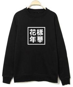 BTS Sweater Kpop Suga Jung Kook In the Mood for Love Bangtan Boys Hoodie Merchandise S