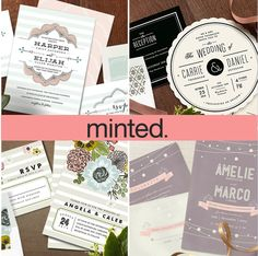 Click here for your chance to win a 200.00 gift card to Minted! http://www.theperfectpalette.com/2013/04/wedding-colors-i-love-shades-of-pink.html
