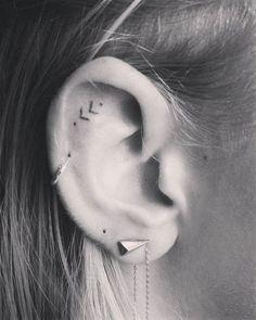 Best Tiny Tattoo Idea - 16 Tiny Ear Tattoos That Are Perfect For Minimalists...
