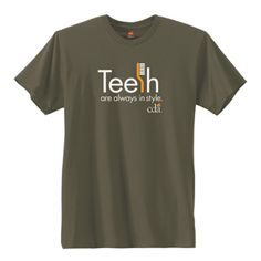 Teeth are always in style. $15 in the CDA online store. #dentistry #dentlahumor