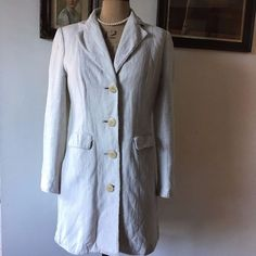 UK SIZE 8 WOMENS PER UNA M&S LINEN SUMMER COAT WEDDING OUTFIT #PerUnaMS #Fitteddaycoat #Formal