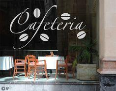 #Fensterfolie - Fenstertattoo No.SF931 Cafeteria - Milchglasfolie #kaffee #Genuss #coffee #time