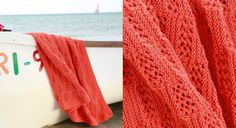 Le plaid corail en point fantaisie