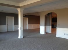 unfinished basement ceiling painted gray - Google Search