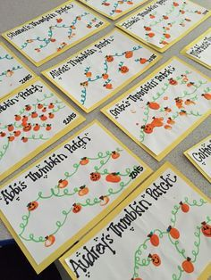 Cute fall fingerprint craft for kids! Make thumbkin patches. (No link.)