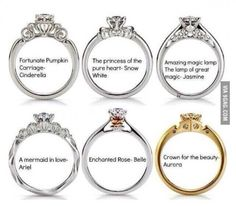 Disney came out with wedding rings.
