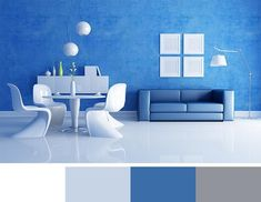 12 Modern Interior Colors, Decorating Color Trends Colour Combination For Hall, Blue Color Combinations, Green Color Schemes, Interior Colors, Modern Interior Design, Colorful Decor, Colorful Interiors, Orange Color Shades, Modern Colors
