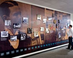 {MBC TIMELINE}:: An example of the work produced by Bob Calvano's in-house design team at Merck (Image courtesy of Bob Calvano) Museum Exhibition Design, Exhibition Display, Exhibition Space, Design Museum, Display Design, Wall Design, House Design, Naval History, Tudor History