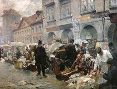 The Egg Market in Prague Luděk Marold, 1888