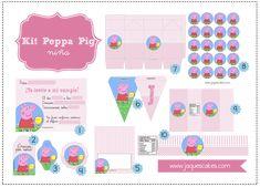 """Hola a tod@s,Para celebrar la actualización del blog y todos los nuevos proyectos """"aún en off"""" que tenemos, os quiero regalar mi Kit fiesta de Peppa Pig."""