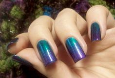 day 10 . GRADIENT nails + tag by gimimimi, via Flickr