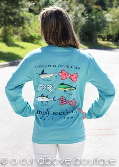 Simply Southern Long Sleeve – Fishy Fishy | A Cut Above Boutique, Inc.