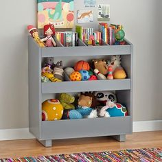 Storage meets functionality in your playroom or kids' room with Crate and Barrel's stylish kids bookshelves, bookcases and toy boxes. Toy Storage Shelves, Kid Toy Storage, Book Shelves, Book Bins, Storage Caddy, Book Storage, Record Storage, Small Storage, Ikea Playroom