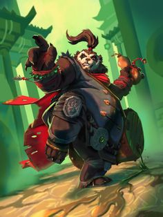 Yeon Woo Barrel Breeze - Hearthstone attempt, Pandaren, Card game