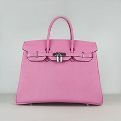 35cm-qaulified-hermes-birkin-bags-pink-color-silver-hardware