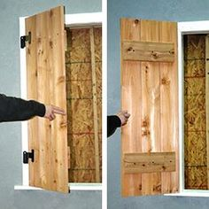 Brandywine Forge – How to size, make and install functional board and batten shutters.