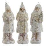 "White Santa Claus Ornaments 6"" -  PerfectlyFestive"
