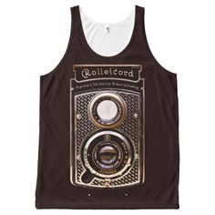 Vintage camera rolleicord art deco All-Over-Print tank top - #customizable create your own personalize diy