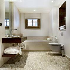 Rustic limestone bathroom