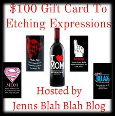 Group Giveaway: $100 Gift Card To Etching Expressions (Ends 4/26) | Drugstore Divas