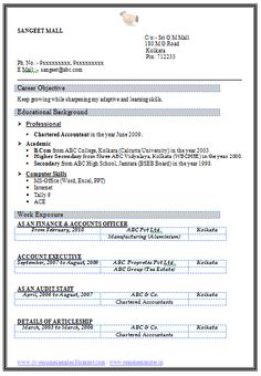 Best Resume Format For Freshers  Niveresume    Resume