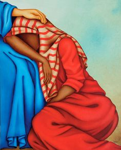 """Mary of Magdala"", oil on canvas, by Luciana Teruz - Rio de Janeiro."