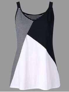 Plus Size Striped V Neck Tank Top Cheapest and Latest women & men fashion site including categories such as dresses, shoes, bags and jewelry with [. Striped Tank Top, Black Tank Tops, Crop Tops, Sewing Clothes Women, Clothes For Women, Cheap Clothes, Diy Clothes, Fashion Women, Fashion Outfits