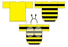 Biene Fasching Kostüme selbst nähen