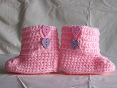 Crochet Baby Uggs Booties for girls and boys. by TalicakeCrochet, $10.00