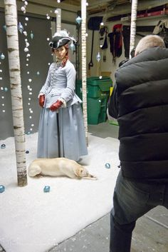 American Duchess:Historical Costuming: V318: Behind The Scenes at Our Winter Wonderland Photo Shoot | Historical Costuming and sewing of Rococo 18th century clothing, 16th century through 20th century, by designer Lauren Reeser