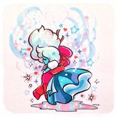 Spangles of Stardust — melting Rocks♡ Sapphire Su, Steven Universe Ships, Harry Potter Ships, Lapidot, Disney Cartoons, Beautiful Artwork, Peace And Love, Nerd, Geek Stuff