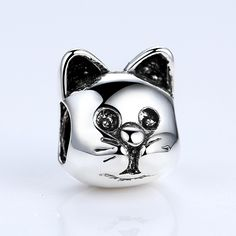 BAMOER 18K Gold Plated Lovely Cat Animal Pattern Beads Fit Pandora Bracelets DIY Accessories Gifts