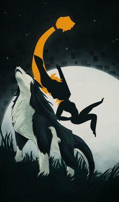 Twilight Princess- Wolf Link and Midna The Legend Of Zelda, Legend Of Zelda Breath, Link Lobo, Overwatch, Neko, Zelda Twilight Princess, Wind Waker, Breath Of The Wild, Game Art