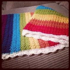 crochet blanket - love the colors