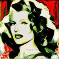 "arte digital movie ""rita hayworth"" by rosy papatella"