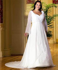 0e2c2f4a900 30 Gorgeous Plus Size Winter Wedding Dresses