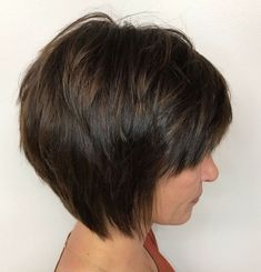 Fantastic pixie hairstyles short hair ideas Very Short Piecey Layered Brown Bob With Bangs Her Style Code 60 Classy Short Haircuts And Hairstyles For Thick Hair Medium Short Haircuts, Short Hairstyles For Thick Hair, Haircut For Thick Hair, Short Hair Cuts, Short Hair Styles, Medium Curly, Pixie Haircuts, Pixie Cuts, Bob Hairstyles With Bangs