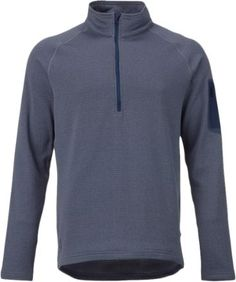 Burton Men's AK Grid Half-Zip Tech Fleece Long Underwear Top Washed Blue Heather XS