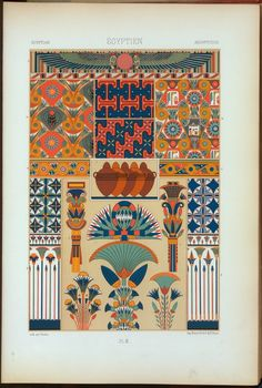 Egyptian design and pattern | Racinet | chromolithograph