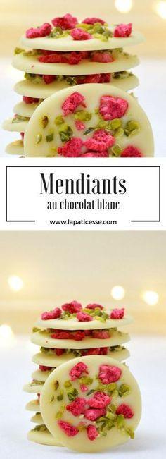 Recipe for french Mendiants with white chocolate * Rezept für Mendiants mit weißer Schokolade * Recette de Mendiants au chocolat blanc. Made by La Pâticesse